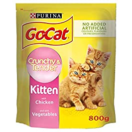 Go-Cat Crunchy and Tender Kitten Dry Cat Food with Chicken and Vegetables, 800g