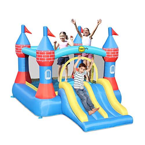 Happy Hop Castle Bouncer with Double Slide