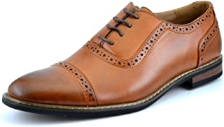 Bruno Marc Moda Italy Men's Prince Classic Modern Formal Oxford Wingtip Lace Up Dress Shoes