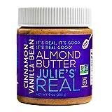 Julie's Real Almond Butter, Cinnamon Vanilla Bean - Certified Non-GMO, Gluten Free, Paleo, No Palm Oil, Peanut Free - 9oz Jar