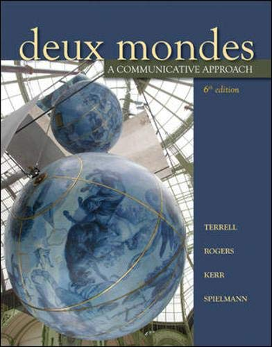 Deux mondes: A communicative approach, Sixth Student Edition