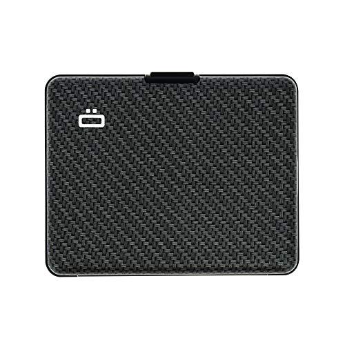 Ögon Designs - Big Stockholm aluminium plånbok - RFID-block korthållare - Upp till 10 kort och sedlar - Koleffekt (bred väv)