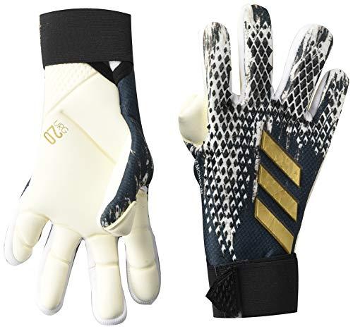 adidas unisex-adult Predator 20 Competition Goalkeeper Gloves Black/White/Gold Metallic 9