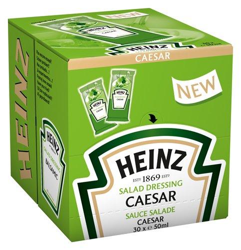 Heinz Caesar Dressing 30 Portionsbeutel á 50ml (Würfel), 1er Pack (1 x 1500 ml)