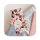 レトロフラワーリーフ電話ケースfor Huawei P30 P40 Pro P20 P30 Lite Mate 20 30 Lite Case Soft IMD Phone Cover Bag-f-for Huawei P20 Lite