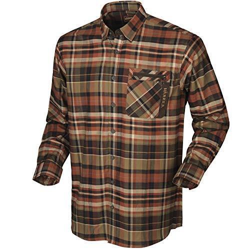 Härkila Newton Karohemd für Herren aus 100% Baumwolle - Outdoorhemd kariert für Männer in verschiedenen Farben - Kariertes Baumwollhemd für den Outdooreinsatz , Größe:XL, Farbe:Braun