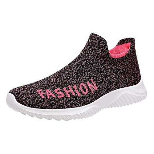 HDUFGJ Herren Damen Sneaker Atmungsaktiv Socken Schuhe Laufschuhe Mode Outdoor-Schuhe Freizeitschuhe Bequem Leichtgewicht Faule Schuhe Turnschuhe Fitnessschuhe Flache Schuhe Clogs39 EU(rot)