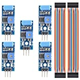 DAOKI 5PCS Vibration Sensor Module SW-420 Motion Alarm Switch Detector Electronic DIY Kit for Arduino + 5PCS Dupont Wire Female to Female,Male to Female 3 PIN