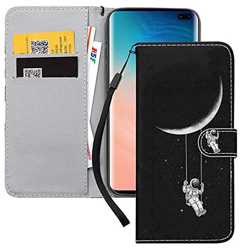 Yoedge Handyhülle für Samsung Galaxy S20 FE / S20 Lite Lederhülle,Schwarz Premium Leder Flip Hülle mit Modisch Muster Brieftasche Klapphülle Handytasche Hülle für Samsung S20 FE 6,5