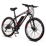 CHHD Bicicleta de montaña eléctrica 26'Bicicleta eléctrica de 250 W con batería de Litio extraíble de 36 V 8 Ah, Caja de Cambios de 21 velocidades, 35 km/H, kilometraje de Carga de h