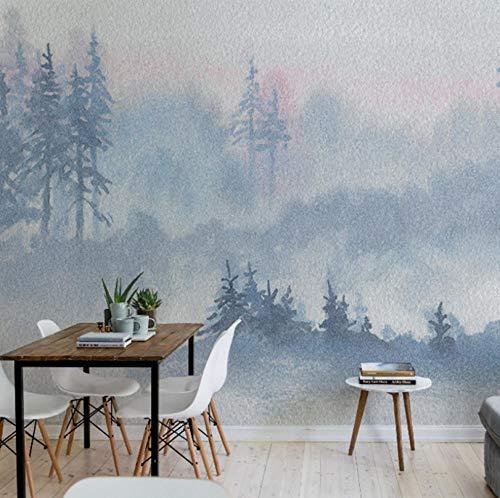 Murales Tropicales Bosque De Niebla Blanca Pared Papel 3D Papel Pintado Dormitorio Sala Tv Fondo Decoración De Pared Decorativos Murales 120Cmx100Cm