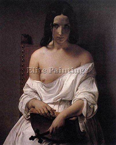 Elite-Paintings Francesco HAYEZ HAYEZ Francesco Meditation History Italy Artista Quadro Dipinto 120x100cm Alta qualita
