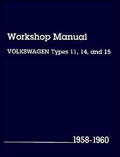 Volkswagen Workshop Manual: Types 11, 14, and 15, 1958-1960