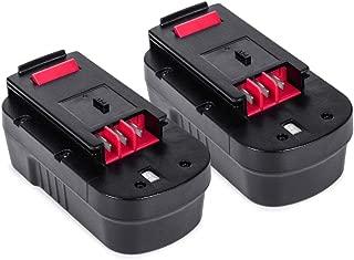 Batería HPB18 18V 3.0Ah 2 paquetes, LENOGE Black + Decker A18 A18E HPB18-OPE FSB18 FS18BX FS180BX 244760-00 Batería de para Black and Decker GTC610 GPC1800 EPC188 HP188F2K Herramienta eléctrica
