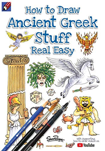 How To Draw Ancient Greek Stuff Real Easy: Easy step by step drawing guide (1) (Draw Stuff Real Easy)