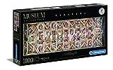 Clementoni- Puzzle 1000 Piezas Museos Panoramico: La Capilla Sixtina, Multicolor (39498.2)