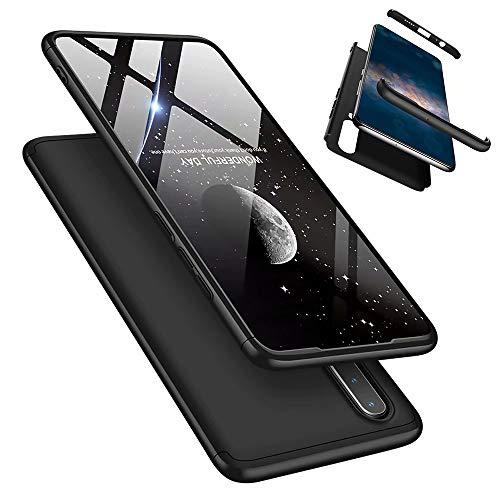 Laixin 3 in 1 Handyhülle für Huawei P30 Lite/Nova 4e Hülle + Panzerglas, Ultra Dünn PC Plastik Anti-Kratzen Schutzhülle Schutz Hülle Cover mit Bildschirmschutzfolie, Schwarz