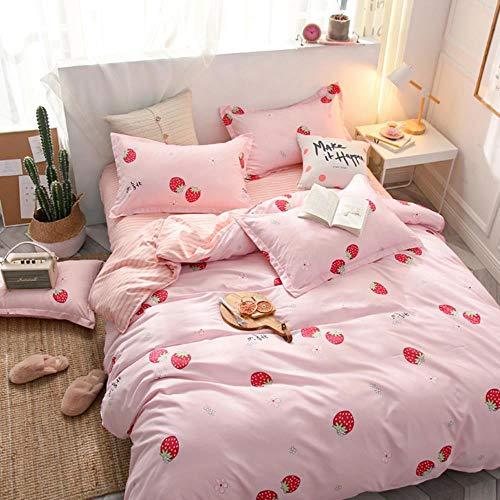 Bedlinnen quilt 2-delig beddengoed 3-delige set is eenpersoons bed studentenslaapzaal meisje hart roze