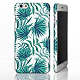 iPhone-Hüllen, hawaiisches / tropisches Blumenmotiv, plastik, 5: Turquoise and Teal Palm Fronds on White, iPhone 5 / 5S / SE - Slim Hülle