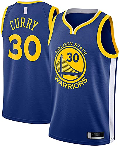 jiaju Ropa Stephen Al Aire Libre Curry Basketball Jersey Golden Traning Jersey State Deportes Warriors # 30 Swingman Jersey Royal - Icon Edition-XXL (Color : Royal, Size : Medium)