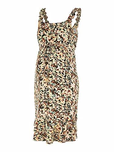 MAMALICIOUS MLSYLVIE S/L Jersey ABK Dress A. Vestido, Gris Mineral, M para Mujer