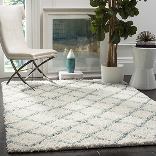 SAFAVIEH Dallas Shag Collection SGD258J Trellis Non-Shedding Living Room Bedroom Dining Room Entryway Plush 1.5-inch Thick Area Rug, 8'6