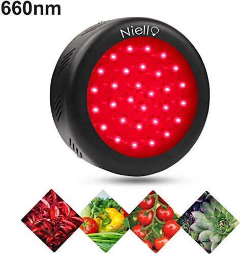 Niello® 150W LED Grow Light, UFO 660nm tiefrot LED Pflanzenlampe für Indoor-Gewächshaus hydroponik Pflanzen Bloom Booster Blüte und Fruchtbildung,Steigern Wachstum Spektrums