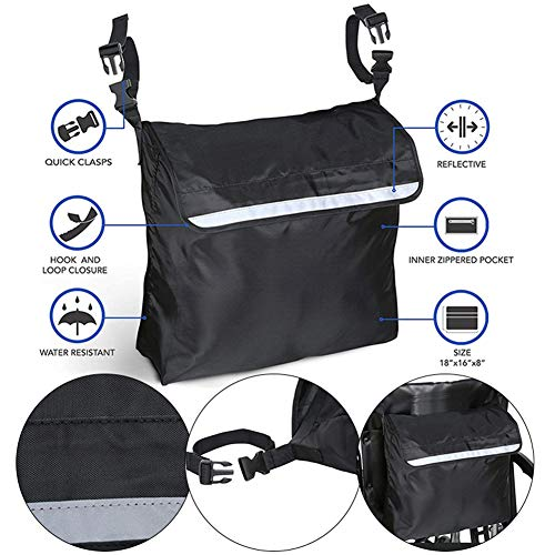 JoyFan Rollstuhl-Rucksack, Aufbewahrungstaschen, Aufbewahrungstasche, Organizer, wasserdicht, Zubehör für Rollstuhl, Roller, Rollatoren