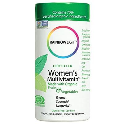 Rainbow Light Women's Multivitamin, Organic Fruits & Vegetables, Gluten-Free, Soy-Free, 120 Vegetarian Capsules