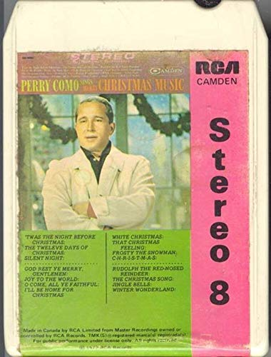 PERRY COMO Sings Merry Christmas Music 8 Track Tape