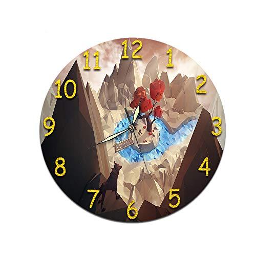 LUOYLYM Geschenk Uhr Wanduhr Acryl Mute Movement Clock Wandaufkleber Clock Borderless Wecker M-038 (Luminous Pointer) 28CM