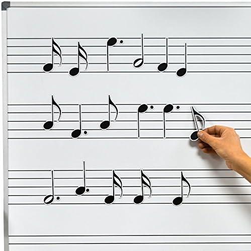 Chamberlain Music Magnetic Music Symbols for Whiteboards Notes 2 Crotchets Minims Individual product image