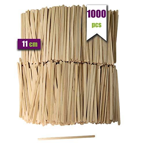 1000 bastoncini di caffè in legno. Bastoncini di caffè usa e getta, agitatori di caffè biodegradabili lunghi 11 cm, agitatori di caffè e tè.