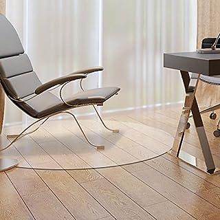 mitef PVC silla o mesa alfombrillas para madera dura protección del suelo, redonda y transparente, 1/17
