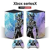 Xbox series X controller cover sticker protective case, Saint Seiya Shiratori Glacier Blue Soul of Chrono Xbox series X full controller package decal protective cover (compatible with Xbox series X co