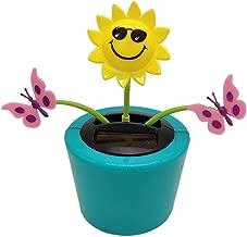 Ouniman Dancing Solar Toys, 26 Styles Solar Dancing Flower Cactus Solar Powered Toys Car Swinging Dancing Toy Car Windowsill Decoration Holiday Car Dashboard Office Home Desk Decor (F)