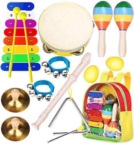 Kinder Musikinstrumenten Spielzeug Set - Smarkids Schlaginstrument Musikalisches Spielzeug für...