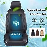 Sommer Stuhlkissen Auto Sitzkissen abdeckung, Universal 3 Getriebe Kissen Sommer USB 12-24V 4...