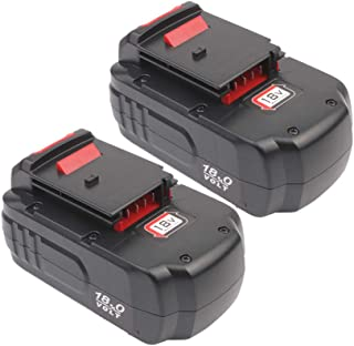 3.6Ah Replacement Ni-MH Battery for Porter Cable 18V Battery PC18B pc18blx PCC489N PCMVC PCXMVC Cordless Tools 2 Pack