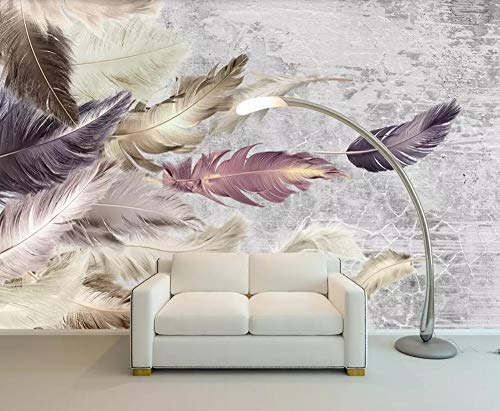 Fototapete 3D Effekt Tapeten Zement Textur Feder Vliestapete Wandbilder Wallpaper Dekoration