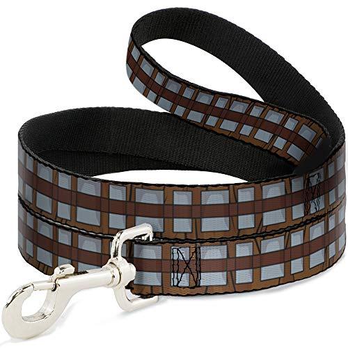 Dog Leash Star Wars Chewbacca Bandolier Bounding Browns Gray 6 Feet Long 0.5 Inch Wide