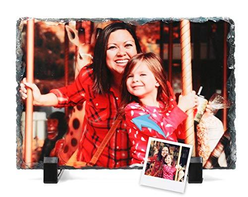 Portafotos Pizarra Personalizado con Tus Fotos y Texto | Diseña un portafotos con Tus Mejores diseños e imágenes | Tamaño 19x14 cm