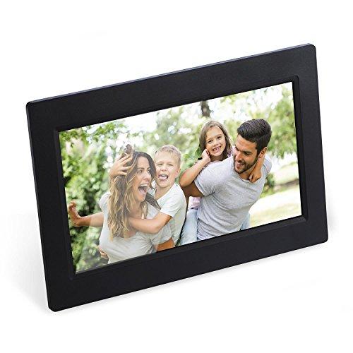 auna Pablo cornice digitale Bluetooth (8 GB di memoria interna, Bluetooth, connessione al Wifi, due altoparlanti integrati, Porta USB SD) - nero