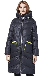 FHIORCK Moda Mujer Chaqueta de Invierno Chaqueta Larga para Mujer Ropa Parka y Abrigo