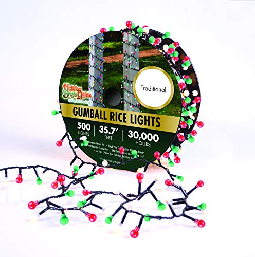Holiday Bright Lights Christmas 500L - Green Cord/Traditional
