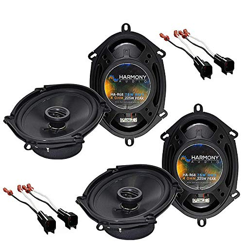 Harmony Audio Bundle Compatible with 2004-2008 Ford F-150 (2) HA-R68 5x7 6x8 New Factory Speaker Replacement Upgrade Package 225W Speakers with HA-725600 Speaker Replacement Harness