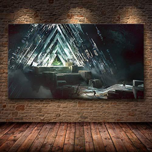 PHhomedecor Sin Marco Cuadros 50X70Cm - Destiny 2 Videojuego Wall Art Canvas Poster HD Imprimir Imagen Sala De Estar Decoración del Hogar Mural,Wkh-878