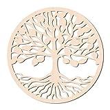 GLOBLELAND 31CM Árbol de la Vida Arte de Pared de Madera Geometría Sagrada Decoración d...