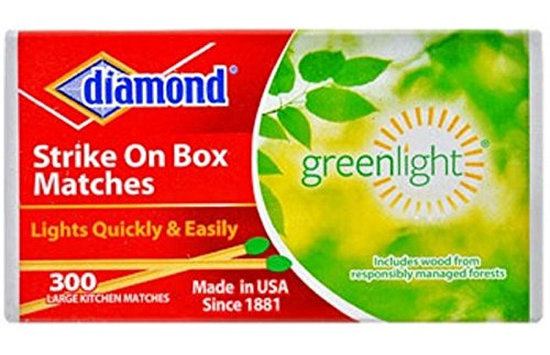 Review Of Diamond Strike on Box Greenlight Matches, 300 Count