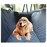 HSBAIS 車用ペットシート 後部座席用、サイドプロテクション、犬シートカバー 防水 ノンスリップ 清潔簡単、車 トラック SUVの場合,black
